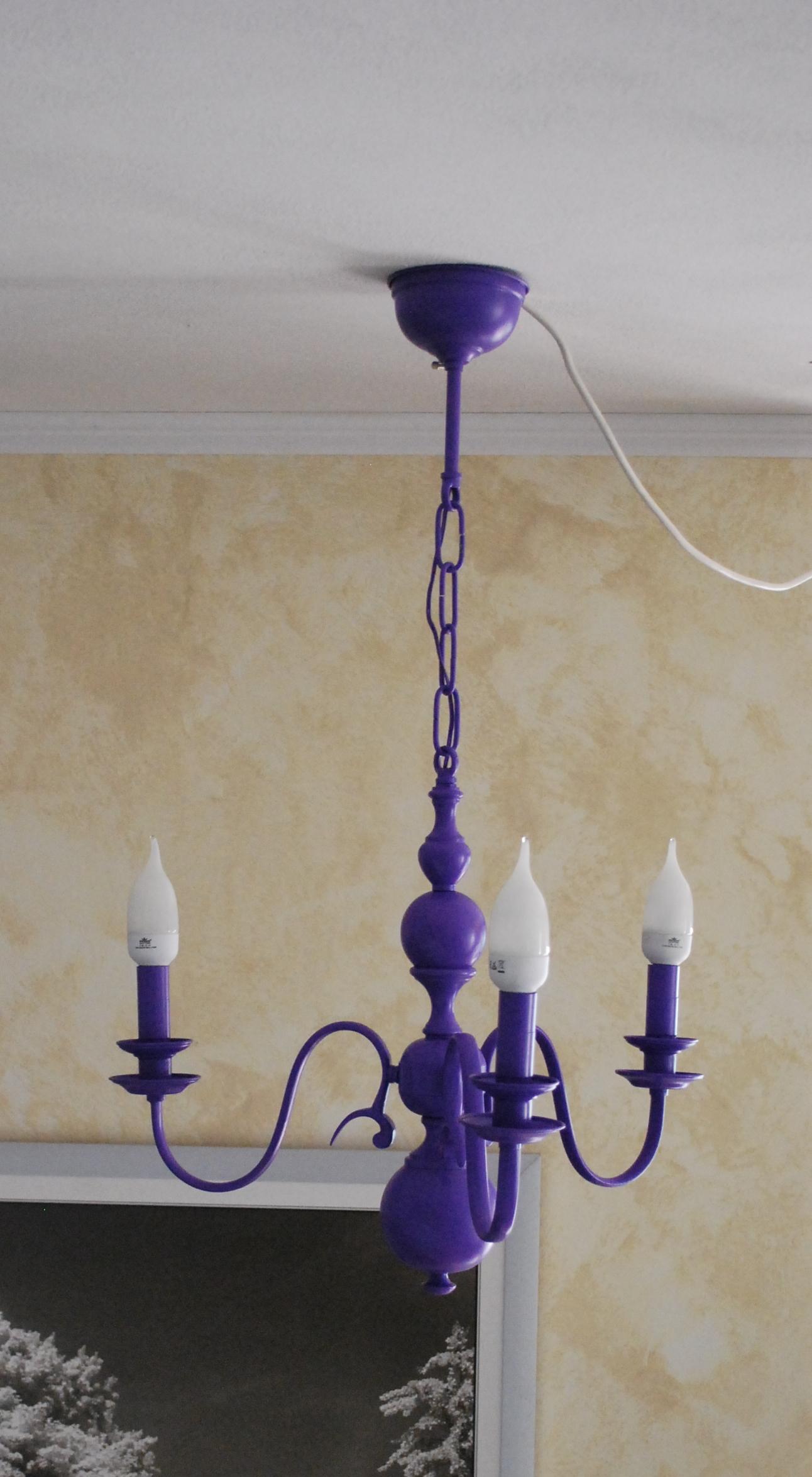 Il lampadario viola recreathing