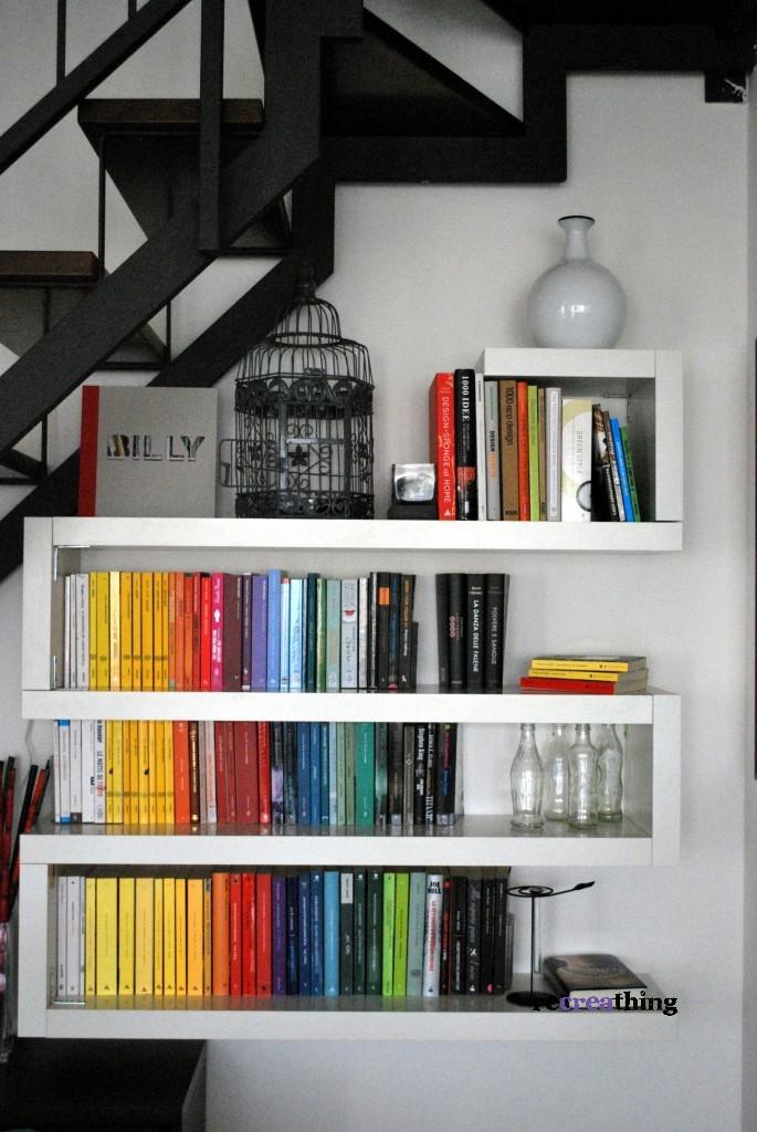 Libreria a zig zag di nuovo recreathing - Libreria ikea lack ...