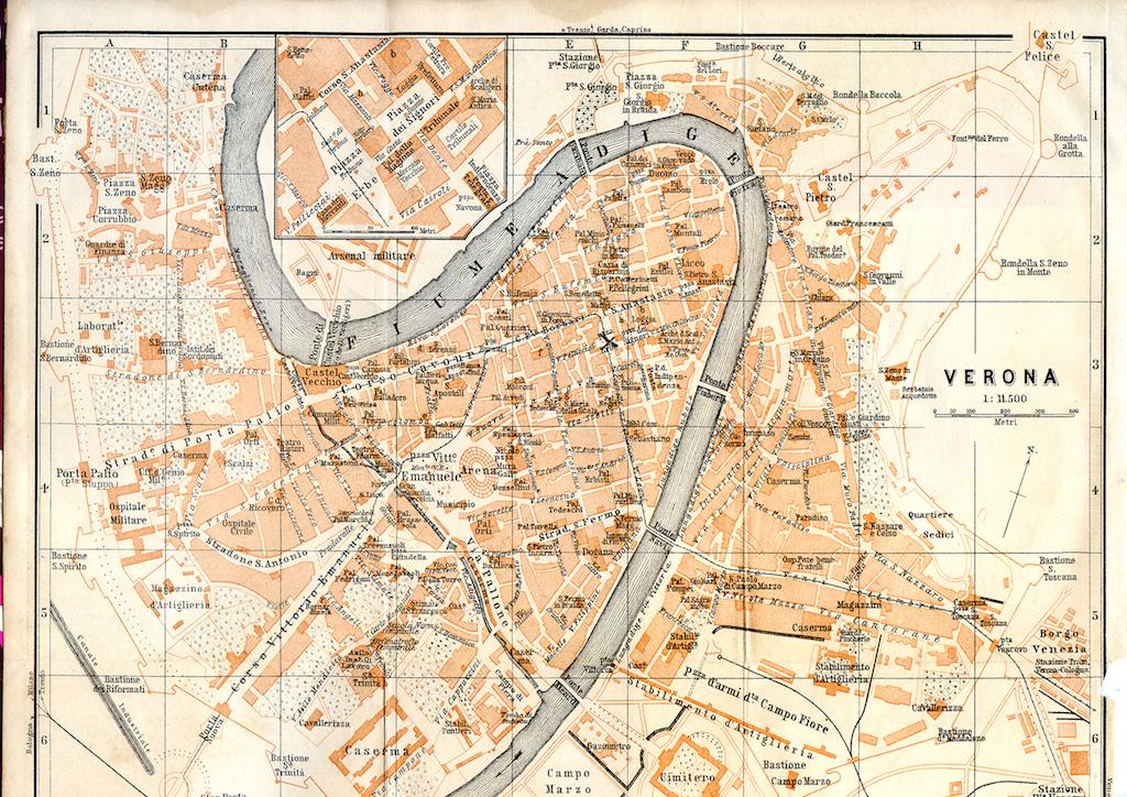 Una mappa come decorazione
